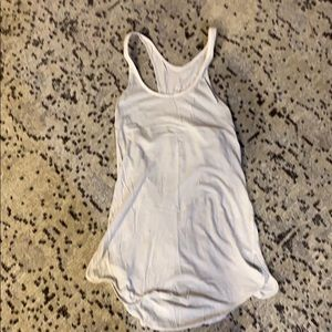 Lululemon gray and white tank top, size 2